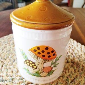 Vintage 1982 mushroom canister mid century modern
